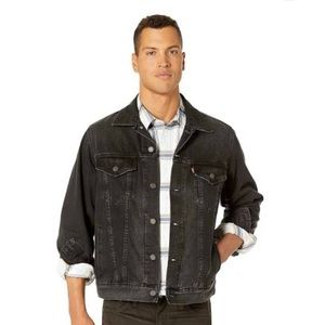 "LEVIS MENS ""THE TRUCKER"" BLACK JACKET"